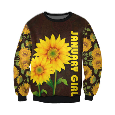 JANUARY GIRL SUNFLOWER 3D FULL OVER PRINTED CLOTHES
