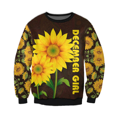 DECEMBER GIRL SUNFLOWER 3D FULL OVER PRINTED CLOTHES
