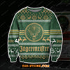 3D ALL OVER PRINT KNITTING PATTERN JAGERMEISTER UGLY CHRISTMAS SWEATER
