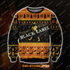JOHNNIE WALKER BLACK LABEL 3D ALL OVER PRINT UGLY CHRISTMAS SWEATER