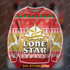 LONESTAR BEER KNITTING PATTERN 3D PRINT UGLY SWEATSHIRT