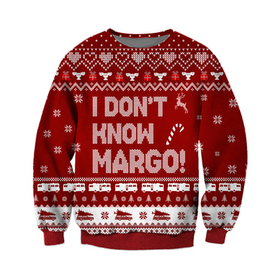 TODD- I DON'T KNOW MARGO KNITTING PATTERN 3D PRINT UGLY CHRISTMAS SWEATER