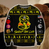 Cobra Kai KNITTING PATTERN 3D PRINT UGLY CHRISTMAS SWEATER