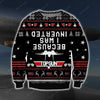 Because I Was Inverted KNITTING PATTERN 3D PRINT UGLY CHRISTMAS SWEATER