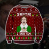 SANTA I KNOW HIM KNITTING PATTERN 3D PRINT UGLY CHRISTMAS SWEATER