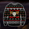 Fun Old Fashioned Family Xmas KNITTING PATTERN 3D PRINT UGLY CHRISTMAS SWEATER