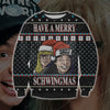 HAVE A MERRY SCHWINGMAS KNITTING PATTERN 3D PRINT UGLY SWEATER
