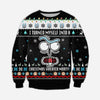 FUNNY RICK KNITTING PATTERN 3D PRINT UGLY SWEATER
