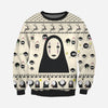 No- Face KNITTING PATTERN 3D PRINT UGLY SWEATER