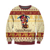 CAPTAIN MORGAN KNITTING PATTERN 3D PRINT UGLY SWEATER