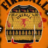 FIREBALL CINNAMON WHISKY KNITTING PATTERN 3D PRINT UGLY SWEATER