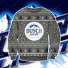BUSCH LIGHT KNITTING PATTERN 3D PRINT UGLY CHRISTMAS SWEATER