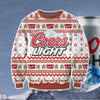 COORS LIGHT KNITTING PATTERN 3D PRINT UGLY CHRISTMAS SWEATER