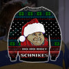 HO HO HOLY SCHNIKES KNITTING PATTERN 3D PRINT UGLY SWEATER