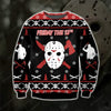 JASON- FRIDAY THE 13TH KNITTING PATTERN 3D PRINT UGLY SWEATER