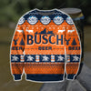 BUSCH BEER KNITTING PATTERN 3D PRINT UGLY SWEATER