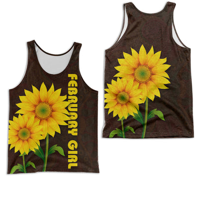 FEBRUARY GIRL SUNFLOWER 3D FULL OVER PRINTED CLOTHES
