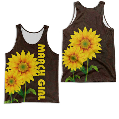 MARCH GIRL SUNFLOWER 3D FULL OVER PRINTED CLOTHES