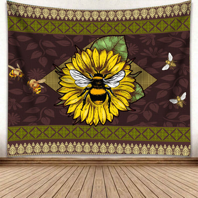 HIPPIE BEES WITH THE GORGEOUS SUNFLOWER TAPESTRY