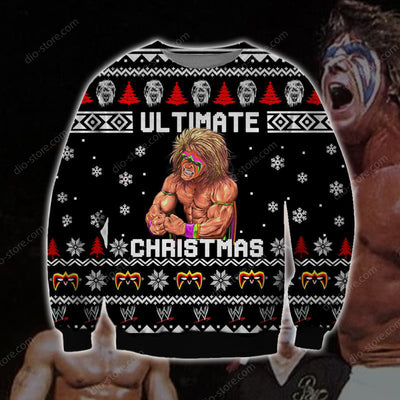 The Ultimate Warrior KNITTING PATTERN 3D PRINT UGLY CHRISTMAS SWEATER