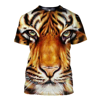 3D All Over Printed Tiger T Shirt Hoodie 512019