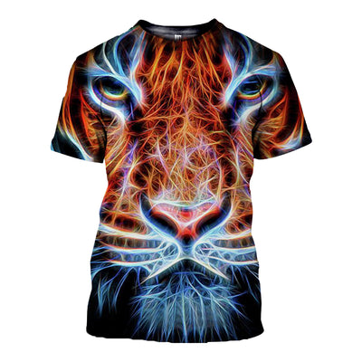 3D All Over Printed Tiger T Shirt Hoodie 5120191