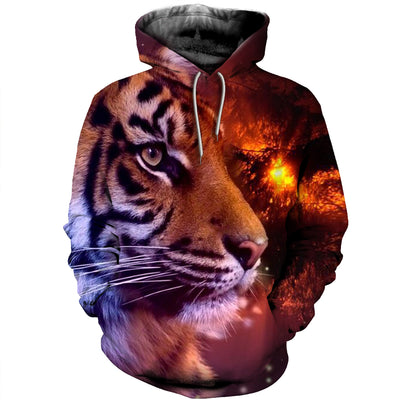 3D All Over Printed Tiger T Shirt Hoodie 51201910