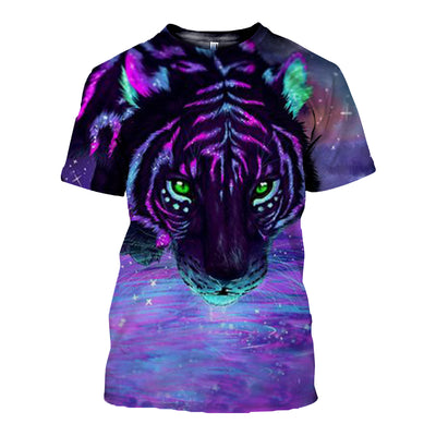 3D All Over Printed Tiger T Shirt Hoodie 51201911