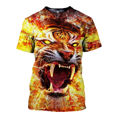 3D All Over Printed Tiger T Shirt Hoodie 51201912