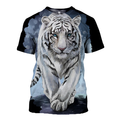 3D All Over Printed Tiger T Shirt Hoodie 51201913