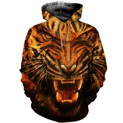 3D All Over Printed Tiger T Shirt Hoodie 51201918