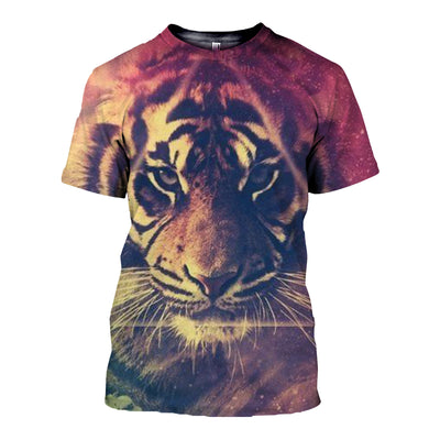 3D All Over Printed Tiger T Shirt Hoodie 51201919