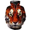 3D All Over Printed Tiger T Shirt Hoodie 51201924