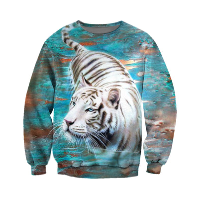 3D All Over Printed Tiger T Shirt Hoodie 5120196