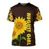 AUGUST GIRL SUNFLOWER 3D FULL OVER PRINTED CLOTHES
