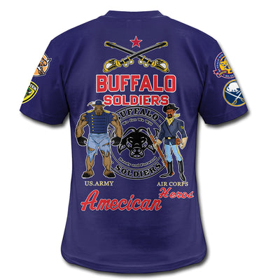 3D ALL OVER PRINT BUFFALO SOLDIERS CLOTHING 300620203