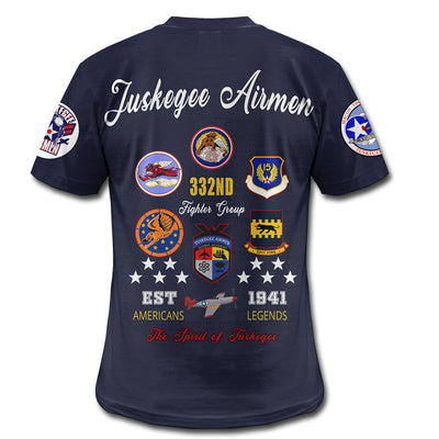3D ALL OVER TUSKEGEE AIRMEN SHIRT