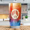 HIPPIE PEACE MAKE LOVE NOT WAR TUMBLER