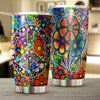 HIPPIE FLOWER & PEACE SIGN TUMBLER