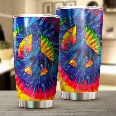 HIPPIE PEACE SIGN PSYCHEDELIC TUMBLER 200220201