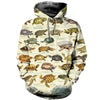 3D All Over Printed Turtle T Shirt Hoodie 12123