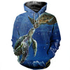 3D All Over Printed Turtle T Shirt Hoodie 12124