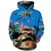 3D All Over Printed Turtle T Shirt Hoodie 12125
