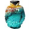 3D All Over Printed Turtle T Shirt Hoodie 12128