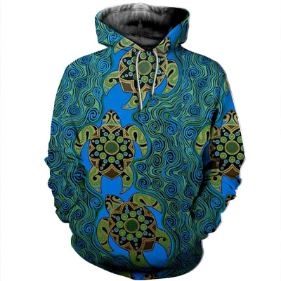 3D All Over Printed Turtle T Shirt Hoodie 12151