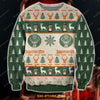 JAGERMEISTER KNITTING PATTERN 3D ALL OVER PRINT UGLY CHRISTMAS SWEATSHIRT