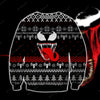 VENOM KNITTING PATTERN 3D PRINT UGLY CHRISTMAS SWEATER