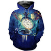 3D All Over Printed Clock T Shirt Hoodie 1922019