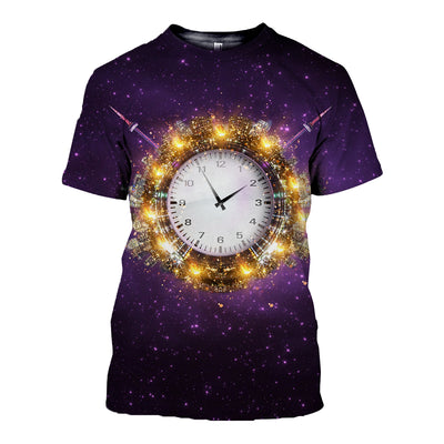 3D All Over Printed Clock T Shirt Hoodie 19220191