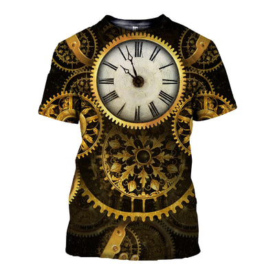 3D All Over Printed Clock T Shirt Hoodie 19220194